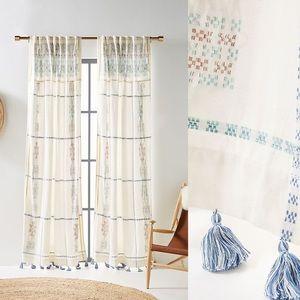 ANTHROPOLOGIE Amina Embellished Curtain 2 PANELS